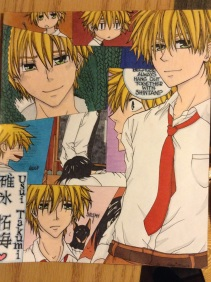 "My first ever manga collage! From the manga ""Kaichou wa Maid-sama!"""