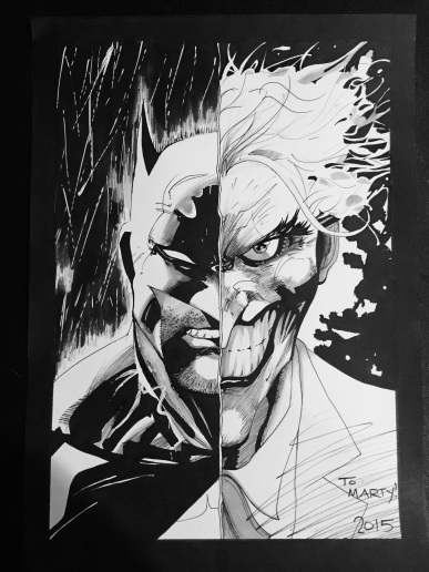My recreation of one of my favorite Jim Lee illustrations to date. This dude is a genius.