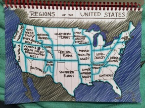 My week-long stint in Meteorology was made a lot more fun by drawing an unnecessarily-detailed map of the US regions.