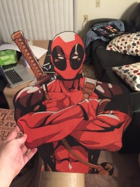 This gigantic Deadpool bust was drawn as a surprise for my second oldest sister Jessie. He came equipped with over 10 interchangeable sassy phrases!