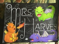 This sign was made for Mrs. Harvey of Illinois, a Redditor who I was matched with during a Fantasy-themed gift exchange :) She currently has this displayed at the front desk at her school library!