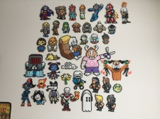 A close view of every sprite I took to NerdCon!