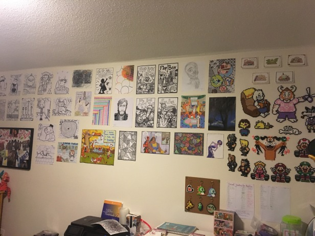 The whole of my art wall left at home in the States! Now time to build a new one in Korea!